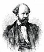 Friedrich Hebbel - German dramatist. Engraving by  Neumann. Published in magazine