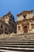 picture of sicily  - baroque church in noto in sicily - JPG