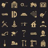 Erection Icons Set. Simple Set Of 25 Erection Icons For Web For Any Design poster