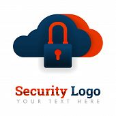 Security Logo Template For Cloud Storage, Secure Storage, Database Protection, Hosting, Internet Ind poster