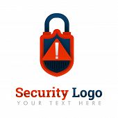Security Logo Template For Security Key, Hacking Warning, Data Protection, Database, Internet, Onlin poster
