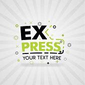 Green Logo For Express. For Food Cover App, Booking Restaurant, Food Websites, Recipe Food, Finger F poster