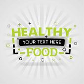 Green Logo For Healthy Food. For Food Cover App, Booking Restaurant, Food Websites, Recipe Food, Fin poster