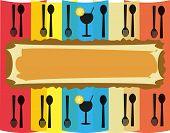 Artwork for food and beverage menu