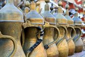 Arabic Tea Pots Lined Up
