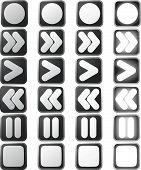 Los iconos de Panel de Control blanco limpio y Estados