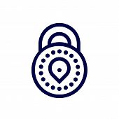 Security Icon Logo Design Vector. Protection And Security Vector Line Icons Set. Business Data Prote poster
