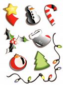 Set Of New Year's Icons