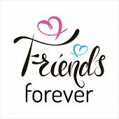 Hand Lettering Text Happy Friendship Day On White Background For Friendship Day Celebration. poster