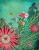 Colorful Fish - Aquarium or a Deep Sea Fish swimming around the coral reefs, seaweed, plankton and s