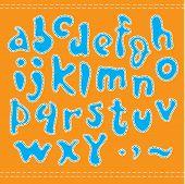 Alfabeto azul.