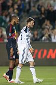CARSON, CA. - MAY 7: New York Red Bulls F Thierry Henry #14 (L) & Los Angeles Galaxy M David Beckham
