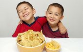Children Eating Chips
