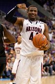 LOS ANGELES - MARCH 12: Arizona Wildcats F Solomon Hill #44 during the NCAA Pac-10 Tournament basket