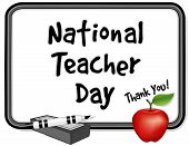 National Teacher Day, Whiteboard, Apple
