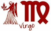 Virgo Zodiac Signs - Red Sticker