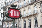 Retro Metro Sign