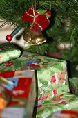 Presents Under Christmas Tree Ornaments