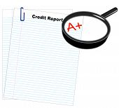 Lined Paper Two W Credit Report A Plus