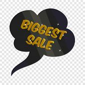 Tag Biggest Sale Icon. Cartoon Illustration Of Tag Biggest Sale Vector Icon For Web poster