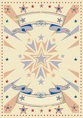 Retro tricolor sunbeams. A vintage background for a poster