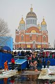 Kiev - Jan 19: Epiphany (kreshchenya) Morning On January 19, 2013 In Kiev, Ukraine.