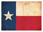 Grunge Flag Of Texas (usa)