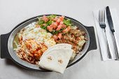 New Mexico stijl groene Chili Enchiladas