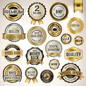 stock photo of recommendation  - Set of luxury vector badges and stickers for sale - JPG
