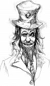 picture of dread head  - A hand drawn illustration of scary head - JPG