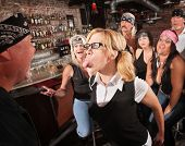 Nerd Sticking Out Tongue In Bar