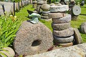 Historical Millstone Collection In Farm