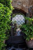 Heavy metal door, Italian Architecture - Umbria