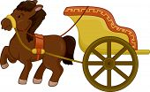 picture of chariot  - Illustration of a Horse - JPG