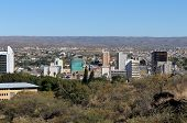 image of veld  - The city centre of Windhoek in Namibia - JPG