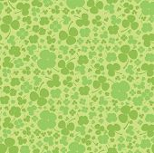 Seamless clover background. Green leaf quatrefoil.