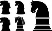 Silhouette Horse Head Chess