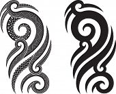 Maori styled tattoo pattern fits for a shoulder or an ankle. Raster. Check my portfolio for a vector version.