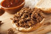 Sloppy Barbecue Beef Sandwich