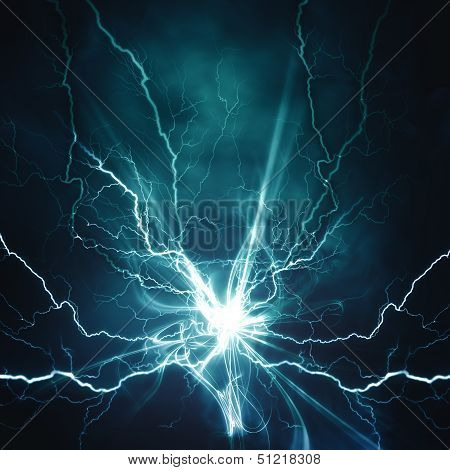 Electric Lighting Effect poster