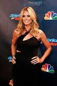 NEW YORK-SEP 17: Judge and supermodel Heidi Klum attends the pre-show red carpet for NBC's