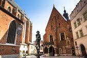 KRAKOW, POLAND - SEN 18: St. Mary's Church in historical center of Krakow, Sen 18, 2013 in Krakow, P