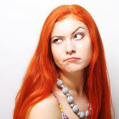 stock photo of wacky  - Woman making a funny face - JPG