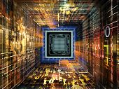 picture of cpu  - Number Tunnel series - JPG