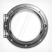 Porthole Seascape On White