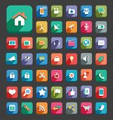 Media Flat Icons