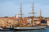 Historic Ship In Venice poster