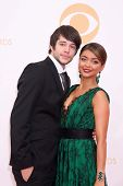 LOS ANGELES - SEP 22:  Matt Prokop, Sarah Hyland at the  at Nokia Theater on September 22, 2013 in Los Angeles, CA