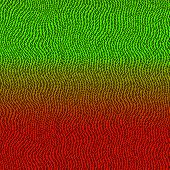 Wavy Binary Code In Red, Orange And Green