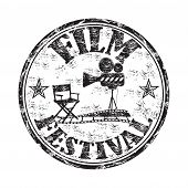 Film festival grunge rubber stamp